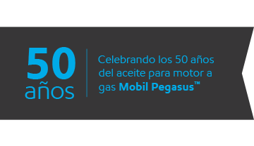 Celebrating 50 years of Mobil Pegasus™ gas engine oil